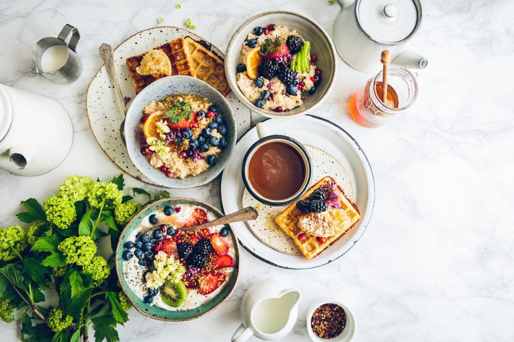 food, breakfast, table